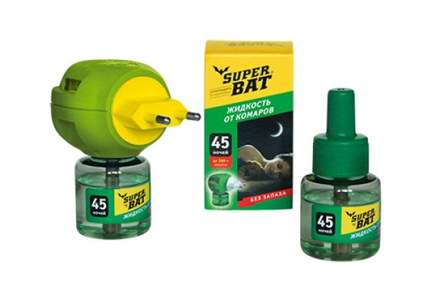 Супербат Дополнительный флакон от комаров 45 ночей