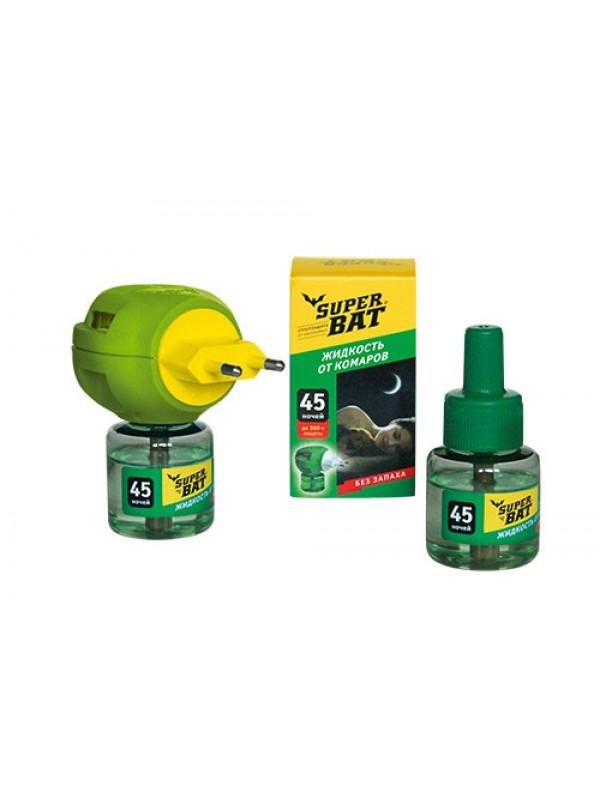 SuperBAT Жидкость от комаров дополнительный флакон, 45 ночей, 30мл.