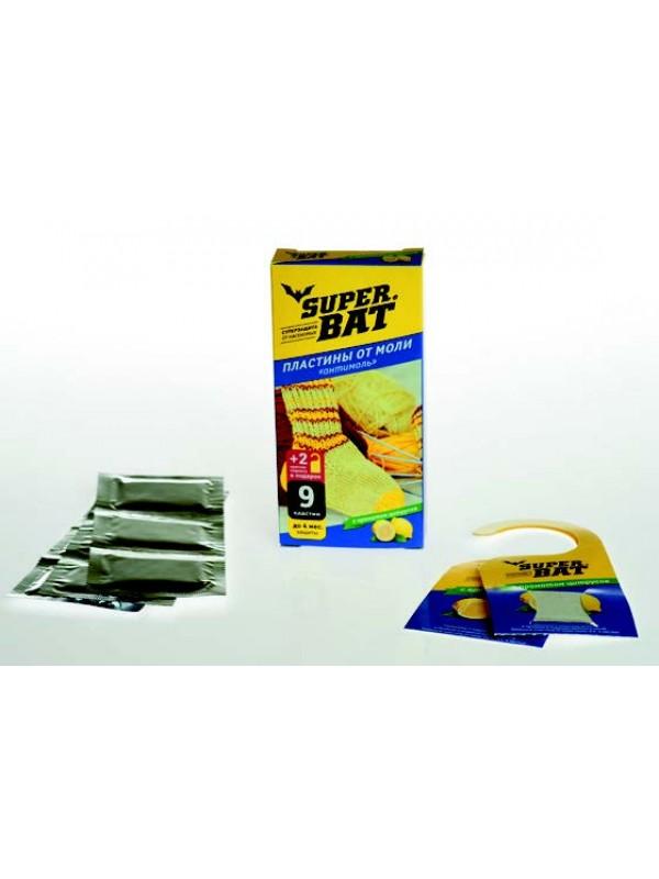 SuperBAT Пластины от моли, цитрус, 9шт (9 пластин+2 крючка)