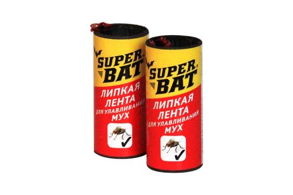 SuperBAT Мухоловка липкая лента, 10 уп. по 100шт.