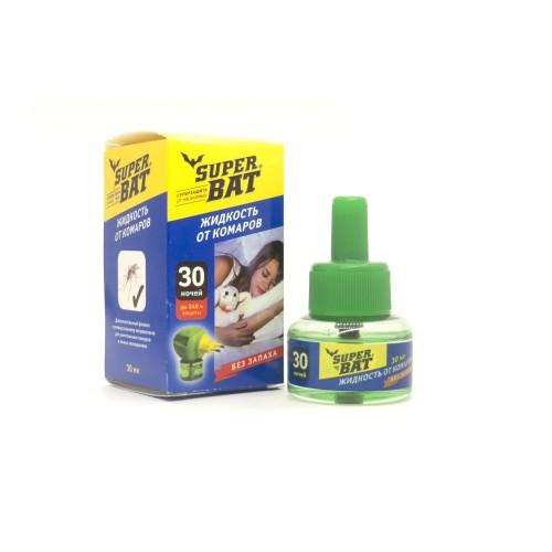 SuperBAT Жидкость от комаров дополнительный флакон, 30 ночей, 30мл.